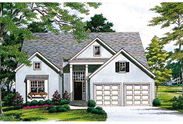 Traditional House Plan 96996 with 3 Beds, 3 Baths, 2 Car Garage Elevation