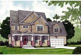 Bungalow Cottage Craftsman Farmhouse House Plan 97000 Elevation