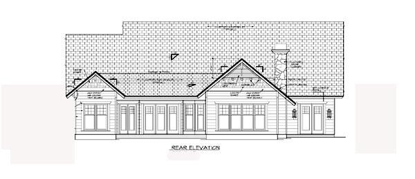 Bungalow Cottage Craftsman House Plan 97001 Rear Elevation