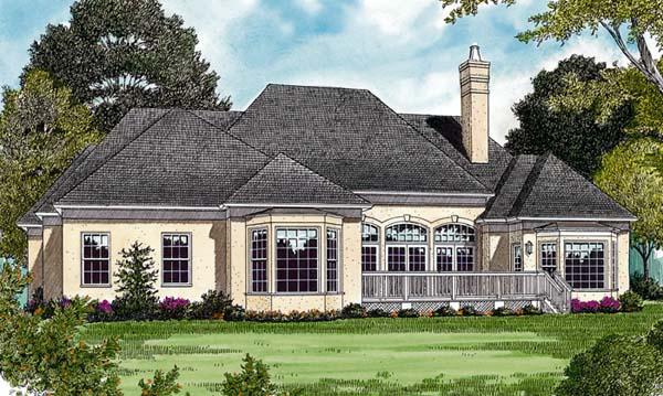 European House Plan 97005 Rear Elevation