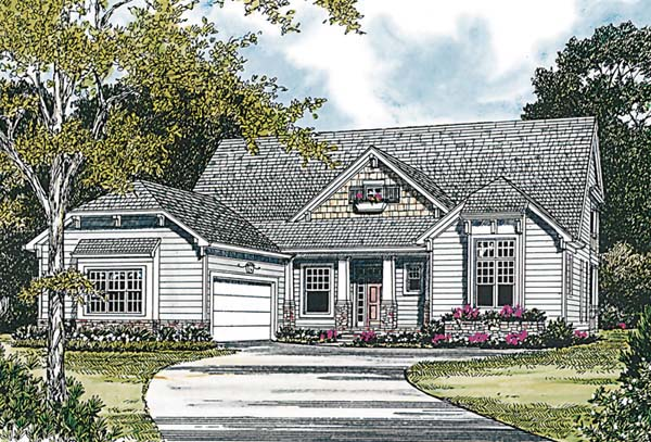 Cottage Craftsman House Plan 97010 Elevation