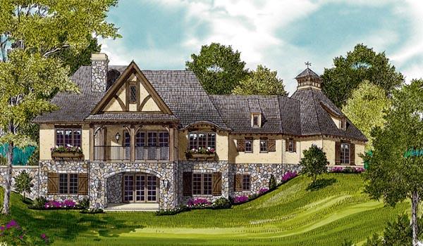 European House Plan 97011 Rear Elevation