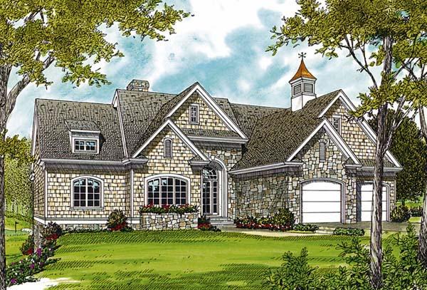 Cottage, Craftsman House Plan 97012 with 3 Beds, 4 Baths, 2 Car Garage Elevation
