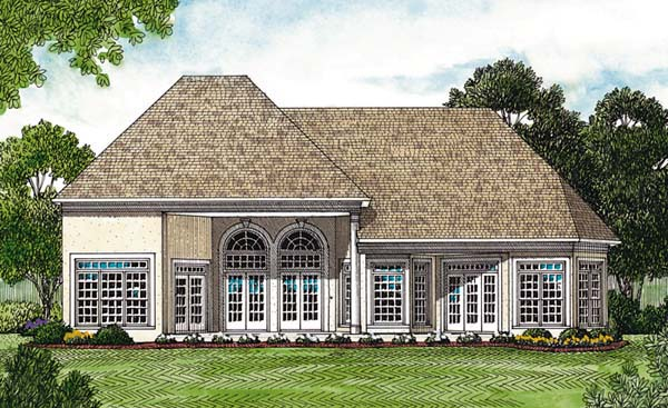 Traditional House Plan 97016 Rear Elevation