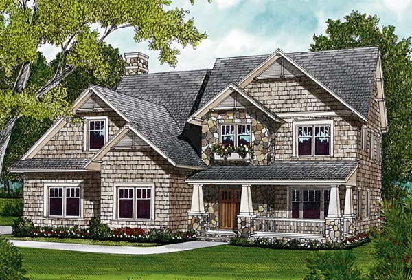 Cottage Craftsman Farmhouse House Plan 97018 Elevation