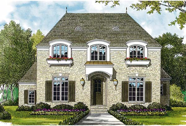European House Plan 97019 Elevation