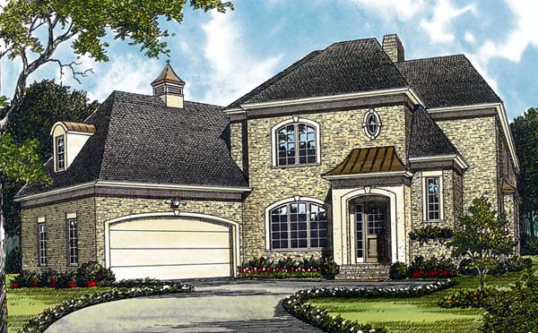 European House Plan 97021 Elevation