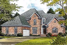 Traditional House Plan 97023 with 3 Beds, 2 Baths, 2 Car Garage Elevation