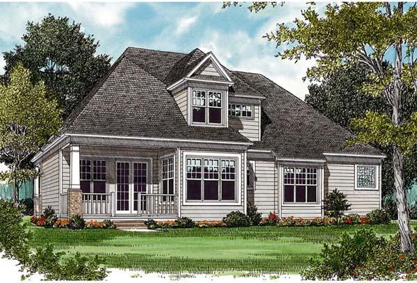 Cottage Craftsman House Plan 97026 Rear Elevation