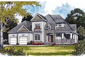 Cottage Craftsman House Plan 97027 Elevation