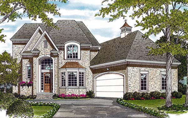 European House Plan 97029 Elevation