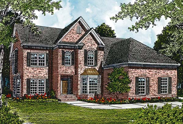 Traditional House Plan 97034 Elevation