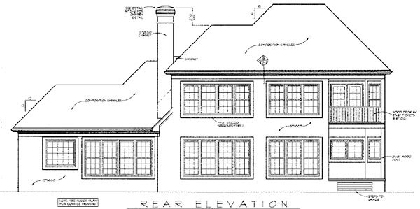 Traditional House Plan 97039 Rear Elevation