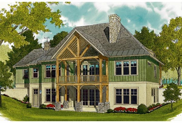 Cottage Craftsman French Country House Plan 97044 Rear Elevation