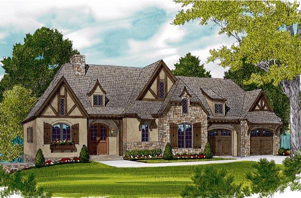 European House Plan 97047 Elevation