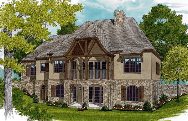 European House Plan 97047 Rear Elevation