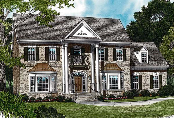 Colonial Traditional House Plan 97048 Elevation