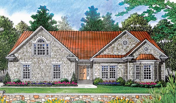 Craftsman , Cottage , Elevation of Plan 97053