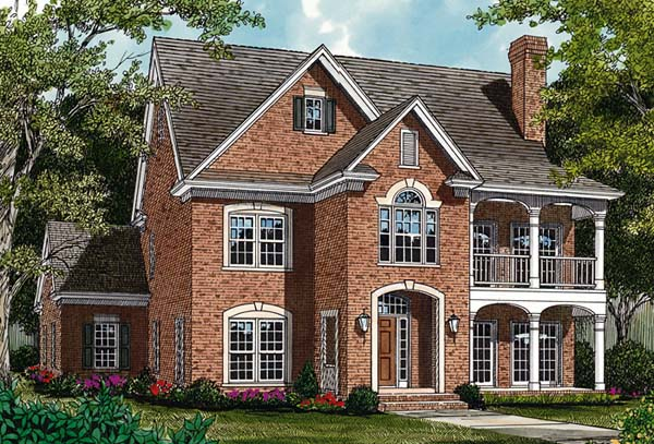 Colonial Traditional House Plan 97054 Elevation