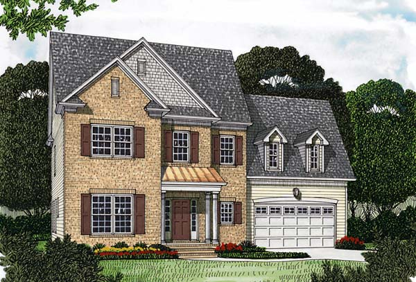Traditional House Plan 97055 with 5 Beds, 4 Baths, 2 Car Garage Elevation