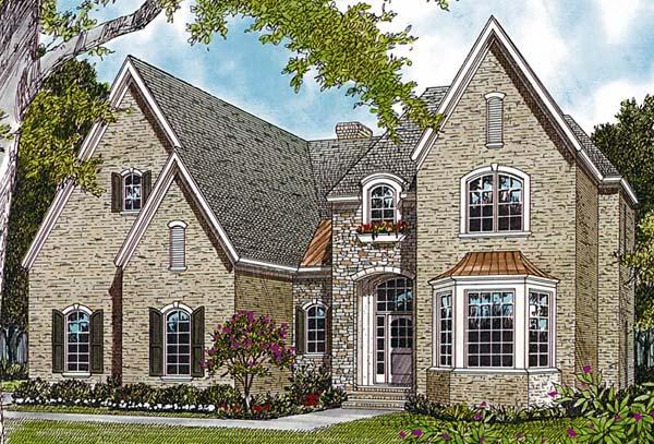 European House Plan 97058 Elevation