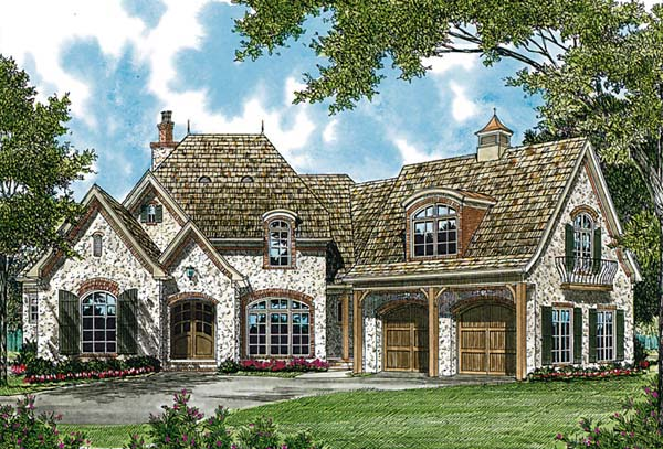 European House Plan 97061 Elevation