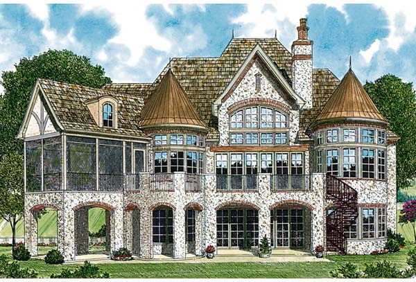 European House Plan 97061 Rear Elevation