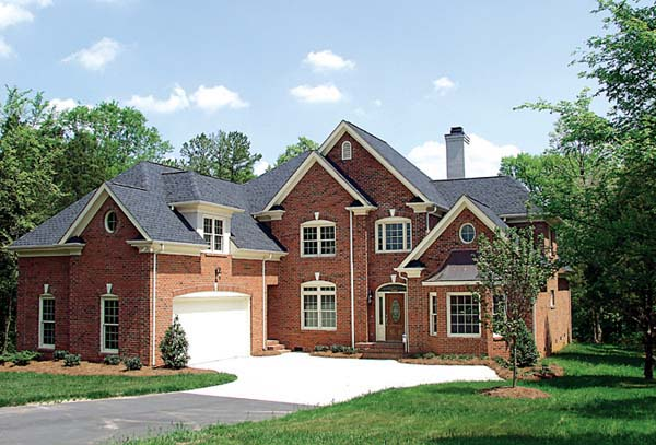 Traditional House Plan 97069 with 4 Beds, 4 Baths, 2 Car Garage Elevation