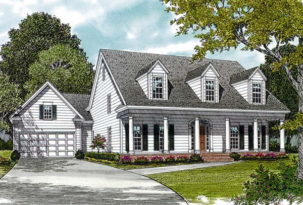 Farmhouse House Plan 97073 with 3 Beds, 4 Baths, 2 Car Garage Elevation