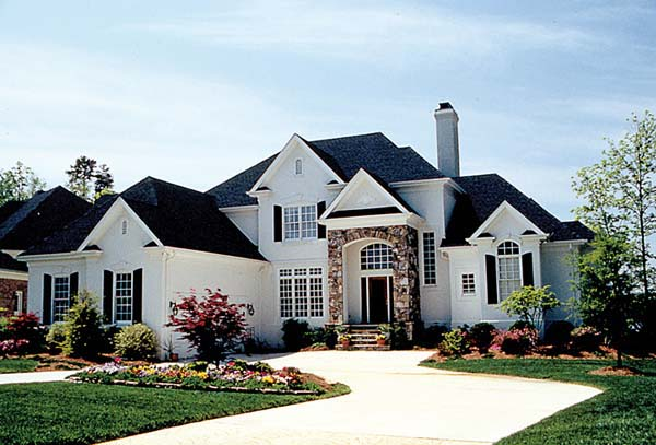 European House Plan 97074 Elevation
