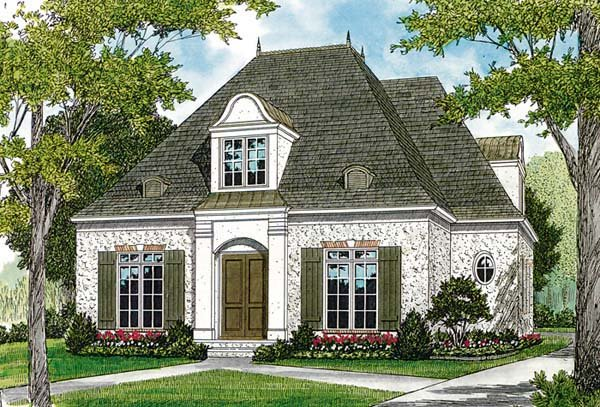 European House Plan 97075 Elevation