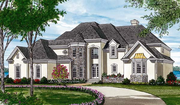 Traditional House Plan 97078 with 4 Beds, 4 Baths, 2 Car Garage Elevation