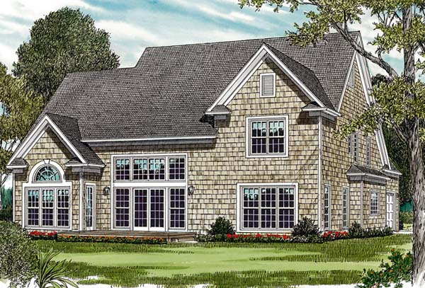 Cottage Craftsman Farmhouse House Plan 97079 Rear Elevation