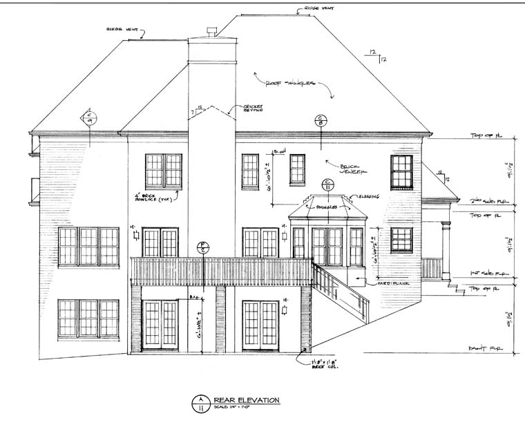 Traditional House Plan 97081 Rear Elevation