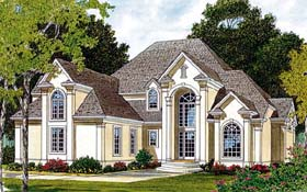 Traditional House Plan 97082 with 3 Beds, 3 Baths, 2 Car Garage Elevation