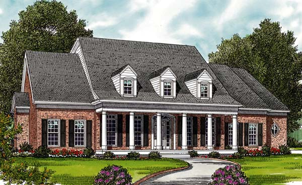 Farmhouse House Plan 97084 with 4 Beds, 4 Baths, 2 Car Garage Elevation