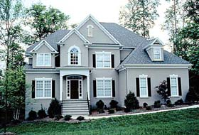 House Plan 97085 | Traditional Style Plan with 3678 Sq Ft, 4 Bedrooms, 4 Bathrooms, 2 Car Garage Elevation