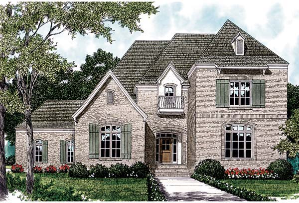 European House Plan 97088 Elevation