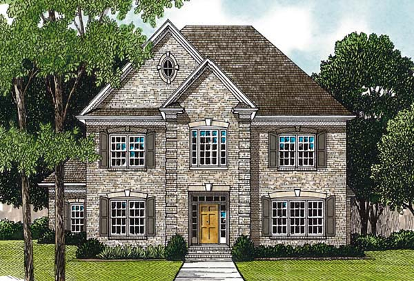 Traditional House Plan 97090 with 4 Beds, 4 Baths, 2 Car Garage Elevation