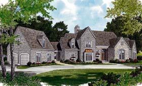 Cottage , European House Plan 97095 with 3 Beds, 3 Baths, 2 Car Garage Elevation