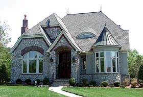 European House Plan 97098 Elevation