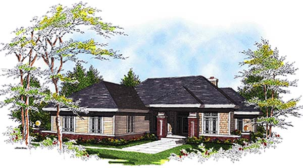 Southwest Traditional House Plan 97101 Elevation