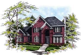 European Traditional House Plan 97102 Elevation