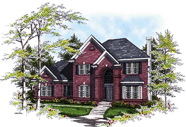 European, Traditional House Plan 97102 with 3 Beds, 3 Baths, 2 Car Garage Elevation