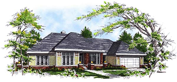 Traditional House Plan 97103 Elevation
