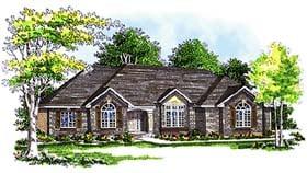 European House Plan 97104 with 2 Beds, 3 Baths, 3 Car Garage Elevation