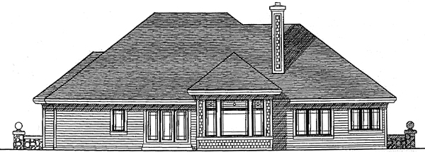 Traditional House Plan 97105 Rear Elevation