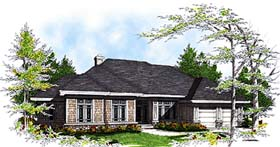 Traditional House Plan 97106 with 3 Beds, 3 Baths, 2 Car Garage Elevation