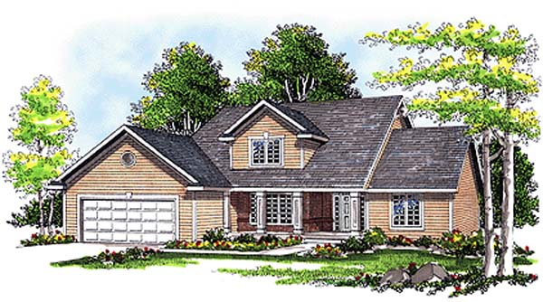 Traditional House Plan 97107 Elevation