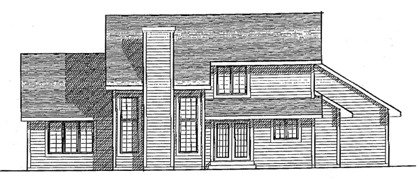 Traditional House Plan 97107 Rear Elevation